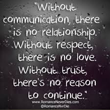 comunication and trust